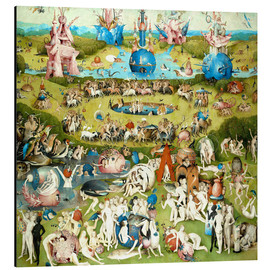Aluminio-Dibond  Garden of Earthly Delights, mankind before the Flood - Hieronymus Bosch