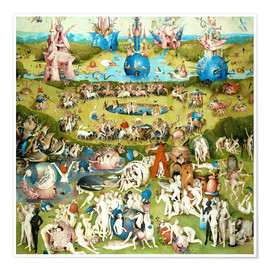 Póster  Garden of Earthly Delights, mankind before the Flood - Hieronymus Bosch