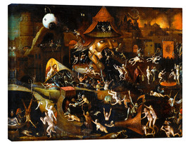 Lienzo  The harrowing of hell - Hieronymus Bosch