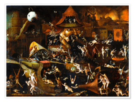 Póster  The harrowing of hell - Hieronymus Bosch