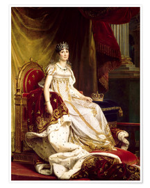 Póster Joséphine in coronation costume