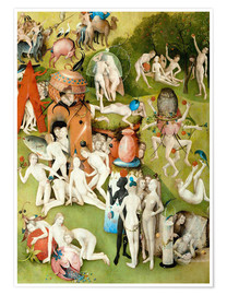 Póster  Garden of Earthly Delights, mankind before the Flood (detail) - Hieronymus Bosch