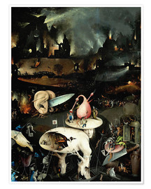 Póster  Garden of Earthly Delights, Hell (detail) - Hieronymus Bosch