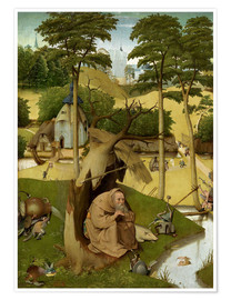 Póster  The temptation of St.. Antonius - Hieronymus Bosch