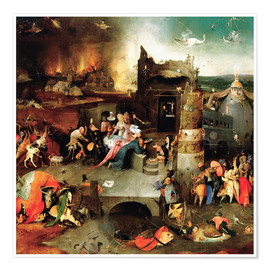 Póster  Saint Anthony in distress - Hieronymus Bosch
