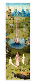 Póster  Garden of Earthly Delights, the paradise - Hieronymus Bosch