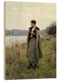 Cuadro de madera  The Shepherdess of Rolleboise - Daniel Ridgway Knight