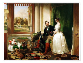 Póster Queen Victoria and Prince Albert
