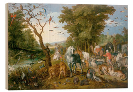 Cuadro de madera  Noah leads the animals into the ark - Jan Brueghel d.Ä.