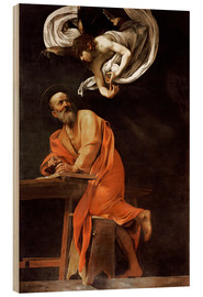 Madera  The inspiration of St Matthew - Michelangelo Merisi (Caravaggio)