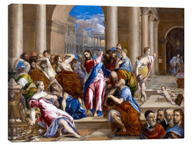 Lienzo  Christ expels traders from the temple - Dominikos Theotokopoulos (El Greco)