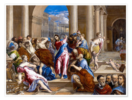 Póster  Christ expels traders from the temple - Dominikos Theotokopoulos (El Greco)