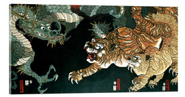 Cuadro de metacrilato  A dragon and two tigers - Utagawa Sadahide
