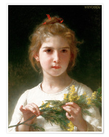 Póster  The flowering mimosa - William Adolphe Bouguereau