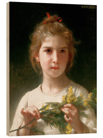 Cuadro de madera  The flowering mimosa - William Adolphe Bouguereau