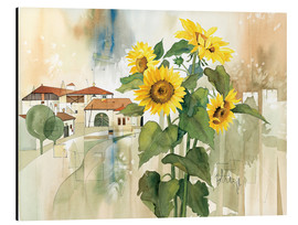 Cuadro de aluminio  Sunflower greetings - Franz Heigl