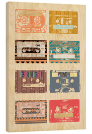 Cuadro de madera  Vintage Tapes Collage - GreenNest