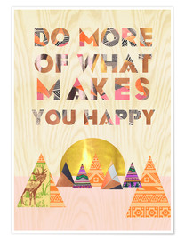 Póster  Do more of what makes you happy - GreenNest