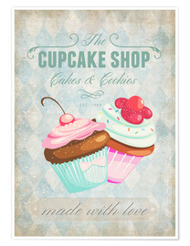 Póster  Cupcake Shop - Andrea Haase