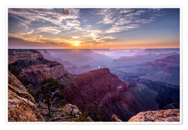Póster  Sunset at Grand Canyon - Daniel Heine