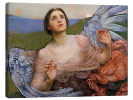 Lienzo  The Sense of Sight - Annie Louisa Swynnerton