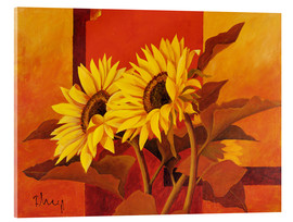 Cuadro de metacrilato  Two sunflowers III - Franz Heigl