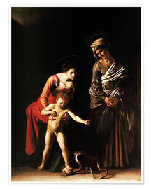 Póster  Madonna with the Serpent - Michelangelo Merisi (Caravaggio)