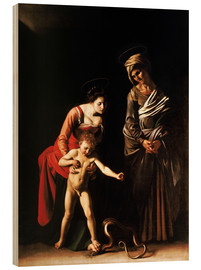 Cuadro de madera  Madonna with the Serpent - Michelangelo Merisi (Caravaggio)