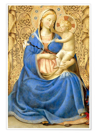 Póster  Madonna with Child - Fra Angelico