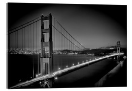 Cuadro de metacrilato  Golden Gate Bridge in the Evening - Melanie Viola
