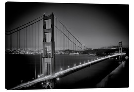 Lienzo  Golden Gate Bridge in the Evening - Melanie Viola