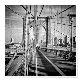 Póster Puente de Brooklyn NYC