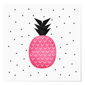 Póster Pink Pineapple