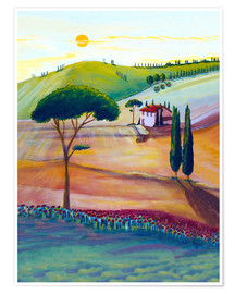 Póster Tuscany is beautiful