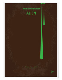 Póster  No004 My Alien minimal movie poster - chungkong