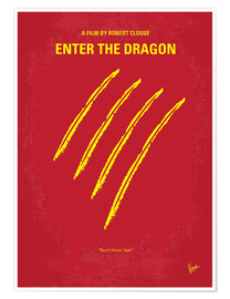 Póster Enter the dragon
