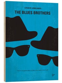 Cuadro de madera  The Blues Brothers - chungkong