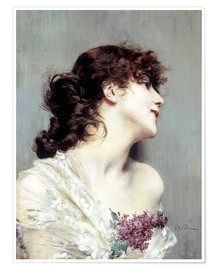 Póster Profile of a young Woman