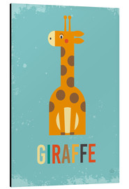 Aluminio-Dibond  Baby Giraffe for the nursery - Petit Griffin