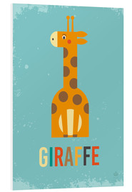 Cuadro de PVC  Baby Giraffe for the nursery - Petit Griffin