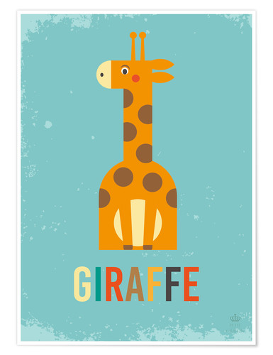Póster Baby Giraffe for the nursery