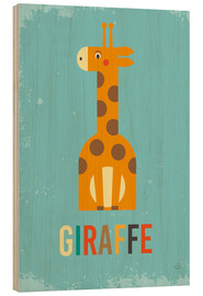 Cuadro de madera  Baby Giraffe for the nursery - Petit Griffin