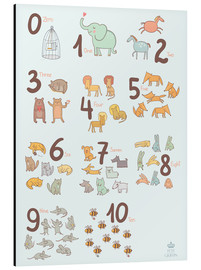 Aluminio-Dibond  Animal numbers for the nursery - Petit Griffin