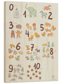 Madera  Animal numbers for the nursery - Petit Griffin