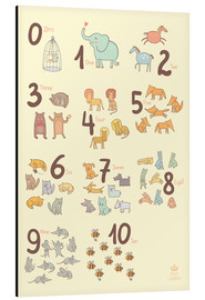 Aluminio-Dibond  Zoological numbers for nursery - Petit Griffin