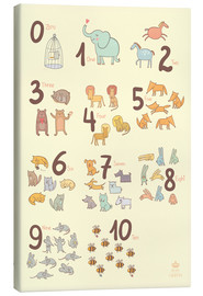 Lienzo  Zoological numbers for nursery - Petit Griffin