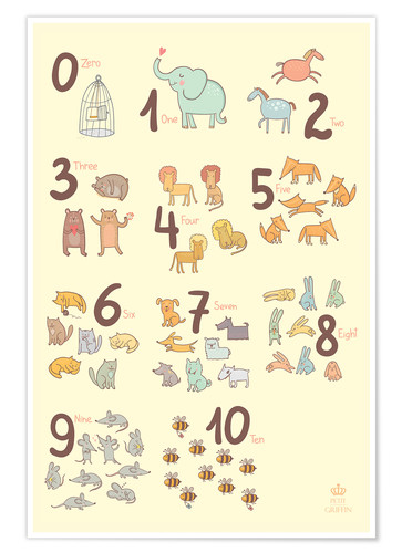 Póster Zoological numbers for nursery