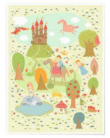 Póster  Faire Tale for the nursery - Petit Griffin