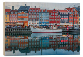 Cuadro de madera  Nyhavn reflected - Scott McQuaide