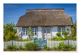 Póster  Thatched cottage on the Baltic Sea - Christian Müringer